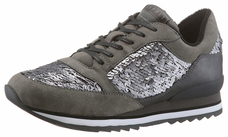 Esprit Astro Sequ Lu Sneaker, mit funkelnden Pailletten online kaufen  grau-silberfarben