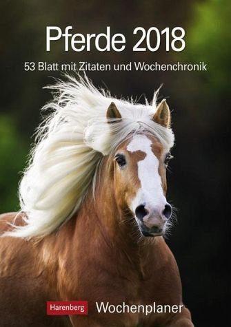 Kalender »Pferde 2018 Wochenplaner«
