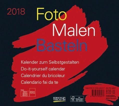 Kalender »Foto-Malen-Basteln quer schwarz 2018«