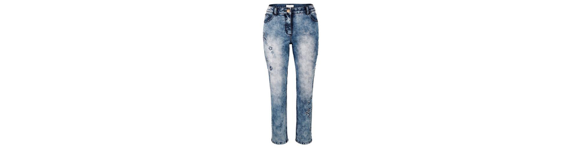 Janet und Joyce by Happy Size 7/8 Slim Fit Jeans mit Stickerei Auslass Wirklich Günstig Für Schön Mit Paypal Online Rabatte Günstig Online Verkauf Besten Platz 7vvOU