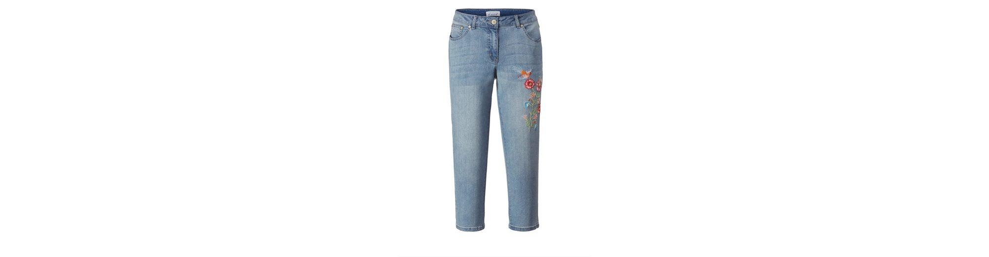 Angel of Style by Happy Size 7/8 Slim Fit Jeans mit Stickerei Verkauf 2018 Günstig Kaufen Zahlung Mit Visa 2018 Unisex Online vvvJzvhSZW