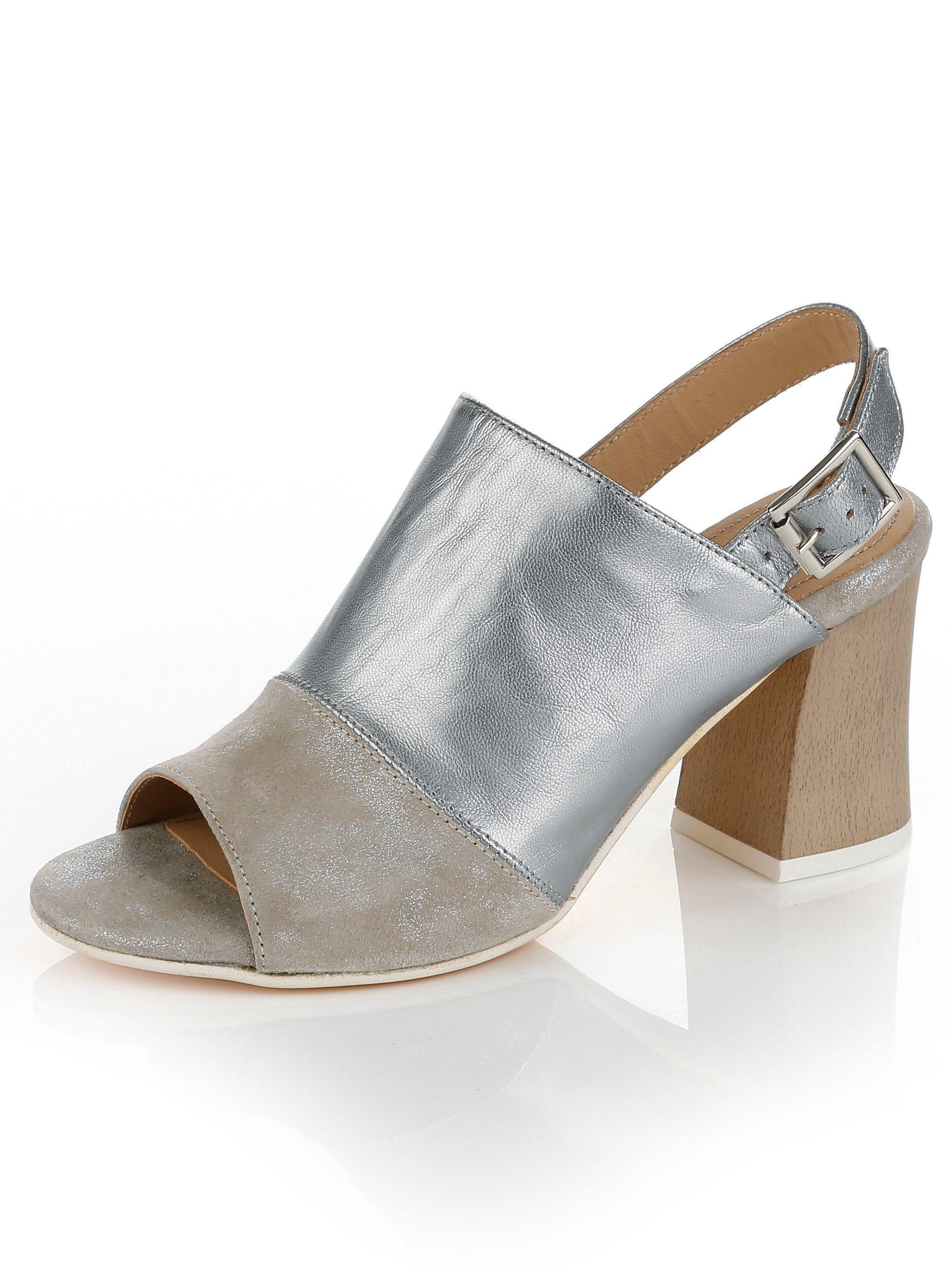 Alba Moda Sandalette mit Blockabsatz online kaufen  silberfb#ft5_slash#taupe