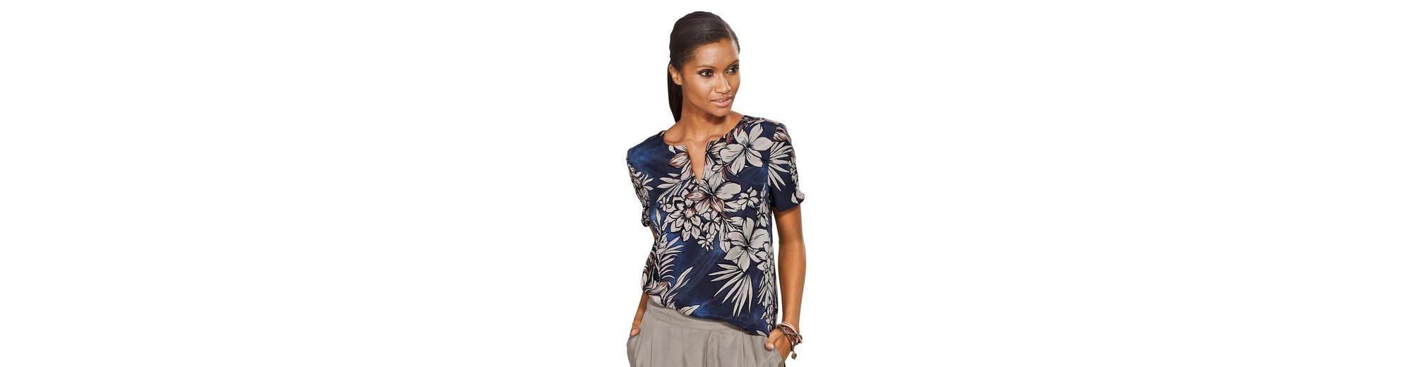 Alba Moda Tunikabluse mit floralem Print Outlet Günstig Online Rabatt Top-Qualität e3tolB