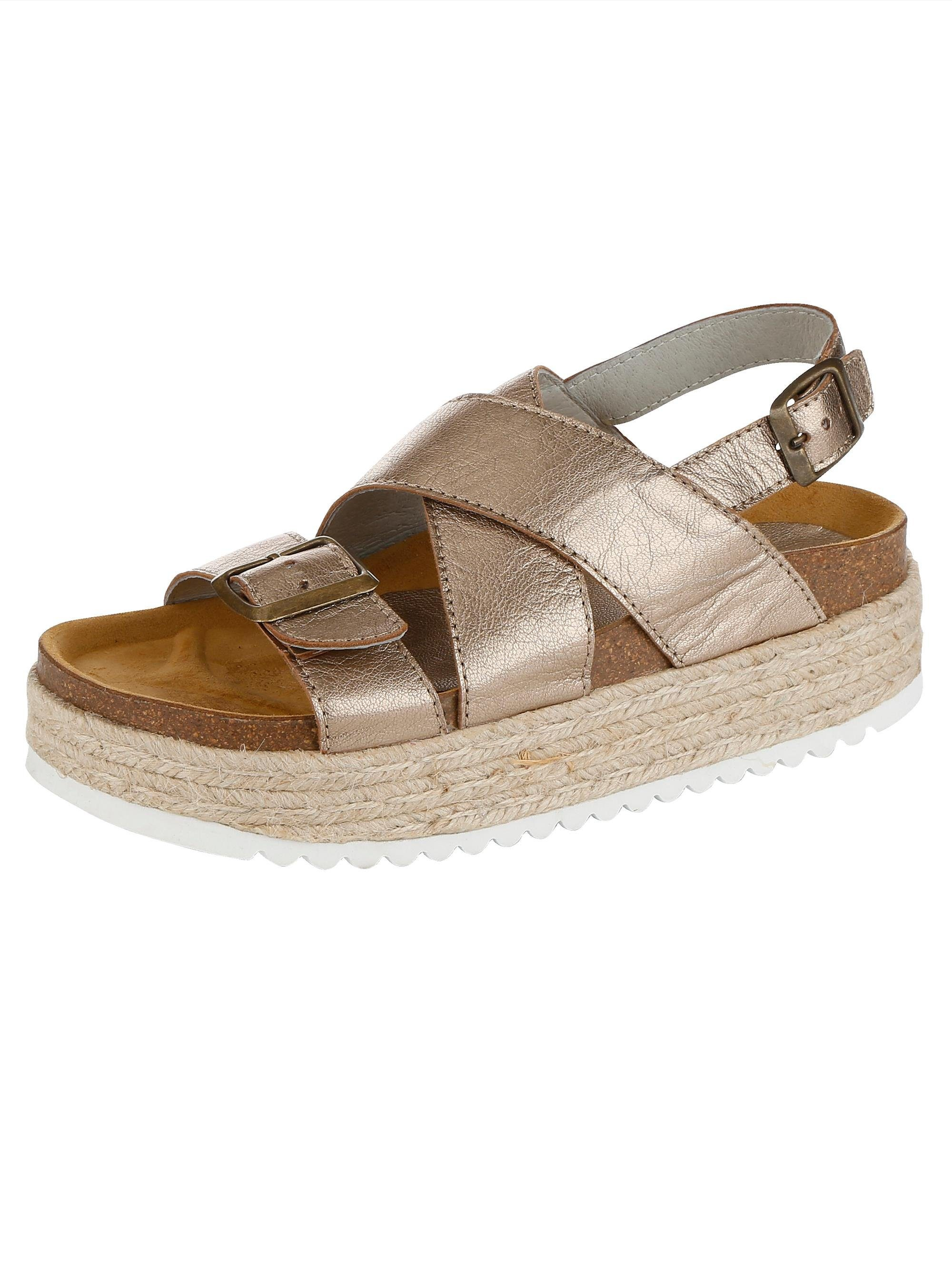 Alba Moda Sandalette in Metallic-Optik kaufen  bronze
