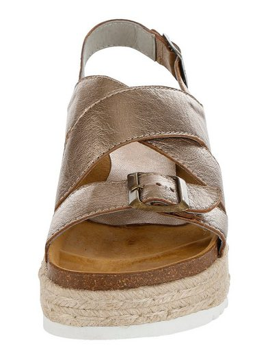 Alba Moda Sandalette En Métal Optik