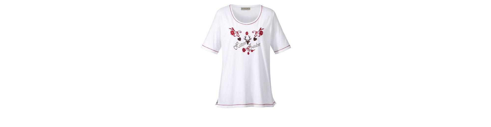 Beliebt Zu Verkaufen Janet und Joyce by Happy Size Shirt im Trachten-Look Günstiger Preis JcWd3