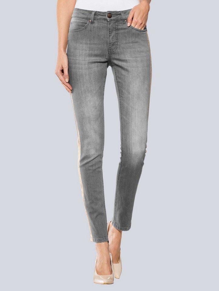 alba moda jeans mit metallic streifen kaufen otto. Black Bedroom Furniture Sets. Home Design Ideas