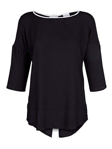 Alba Moda Blusenshirt mit Knopfleiste im Rücken