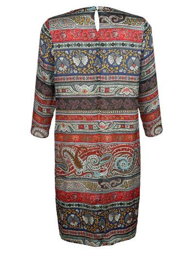 Alba Moda Seidenkleid im farbenfrohem Druckdessin