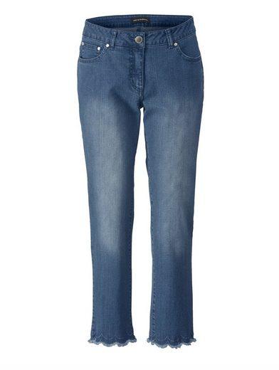 Sara Lindholm by Happy Size Slim Fit Jeans mit Spitze und Strass