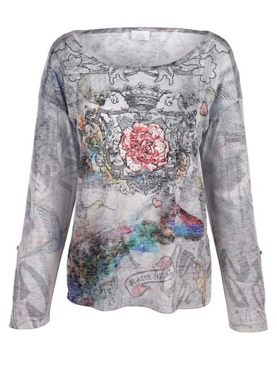 Alba Moda Druckshirt Shirt mit modischem Fantasiedruck