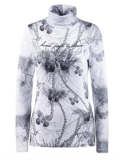 Alba Moda Rollin Shirt With Butterfly Print
