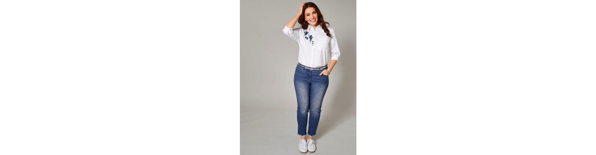 Sara Lindholm by Happy Size Slim Fit Jeans mit Spitze und Strass Niedrig Kosten Günstig Online Erkunden Online 1ZHFcsxony