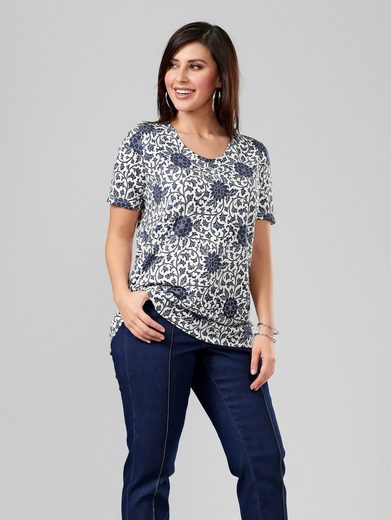 Sara Lindholm by Happy Size Shirt mit Allover-Print