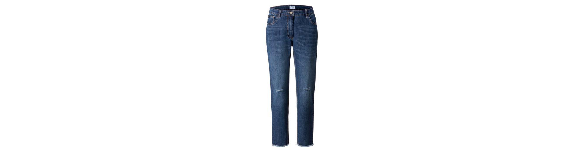 Angel of Style by Happy Size Slim Fit Jeans mid dark blue Verkauf 2018 Neue MazCYI5