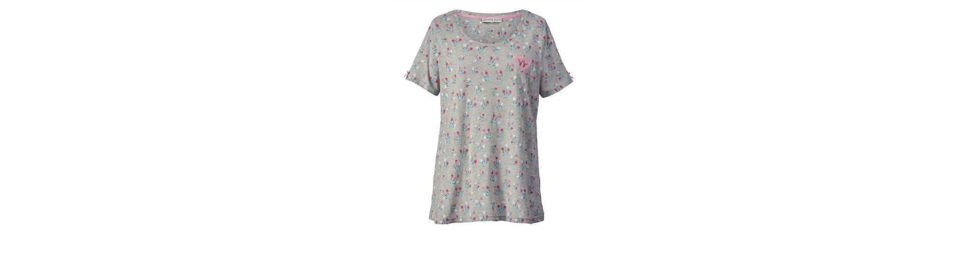 Janet und Joyce by Happy Size Trachten-Shirt mit Allover-Print Günstig Kaufen Gefälschte luuJdw