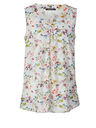 Sara Lindholm City Happy Size Blouse-top Mit Blumen Print