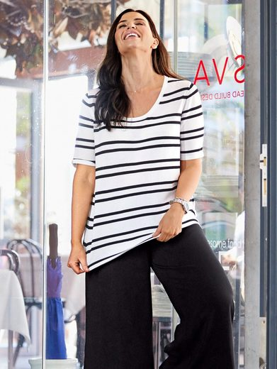 Sara Lindholm by Happy Size Pullover gestreift