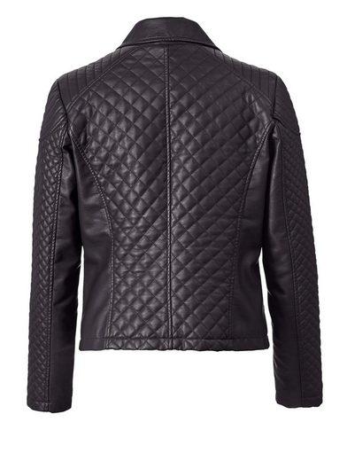 Sara Lindholm by Happy Size Lederimitat-Jacke im Biker-Style