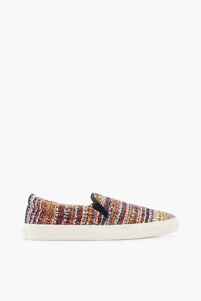 ESPRIT CASUAL Bunter Slip On-Sneaker in Bouclé-Optik