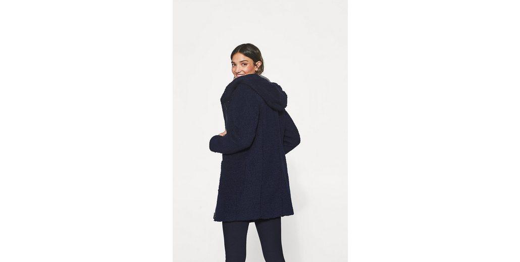 Kauf Billig Verkauf Gut Verkaufen ESPRIT Sportiver Bouclé-Mantel mit Kapuze Günstige Preise Authentisch hc7hwb0I