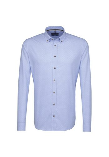 - Herren seidensticker Trachtenhemd Tailored Button-Down-Kragen blau | 04048869380976