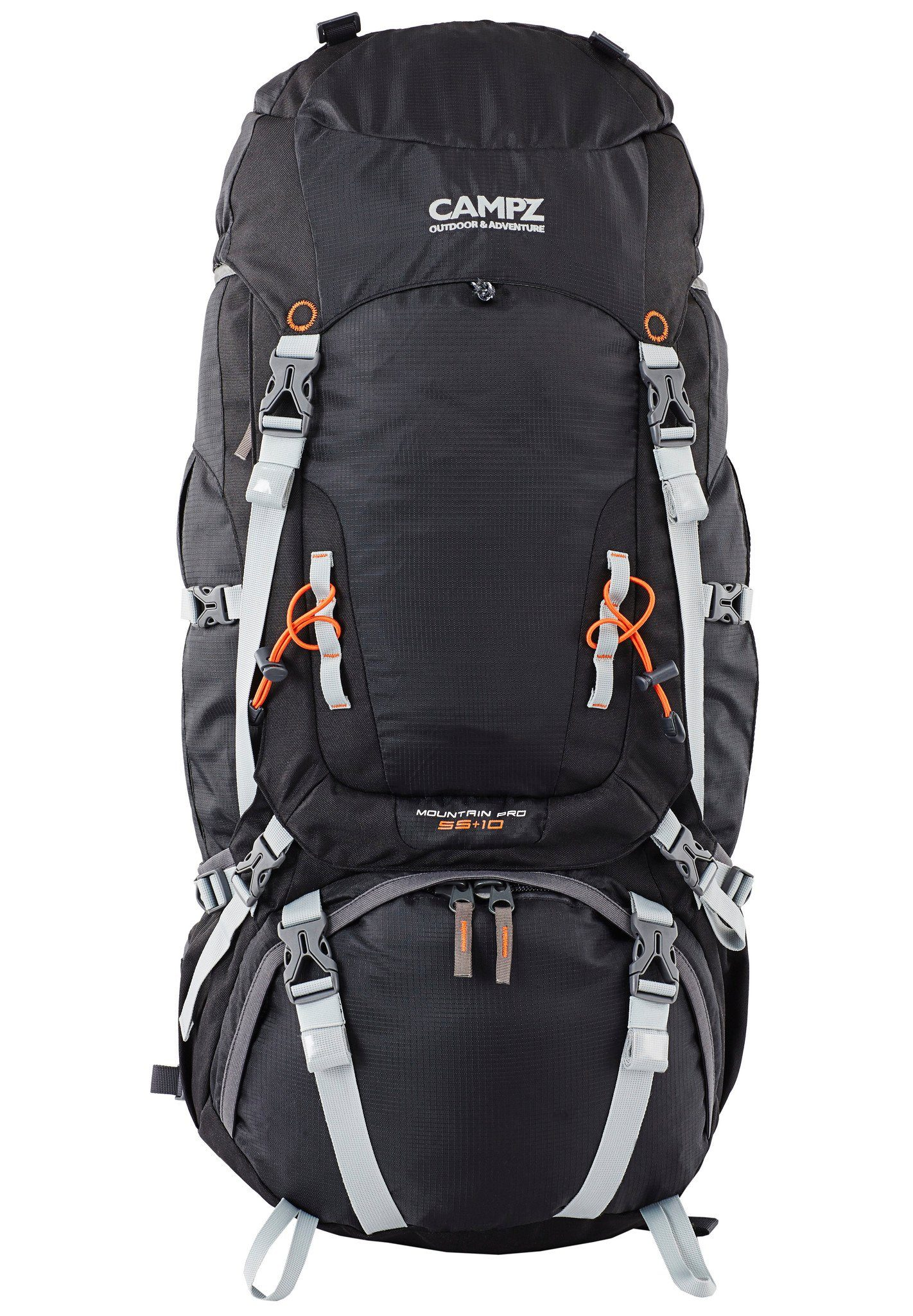 CAMPZ Sport- und Freizeittasche »Mountain Pro 55+10L Rucksack«