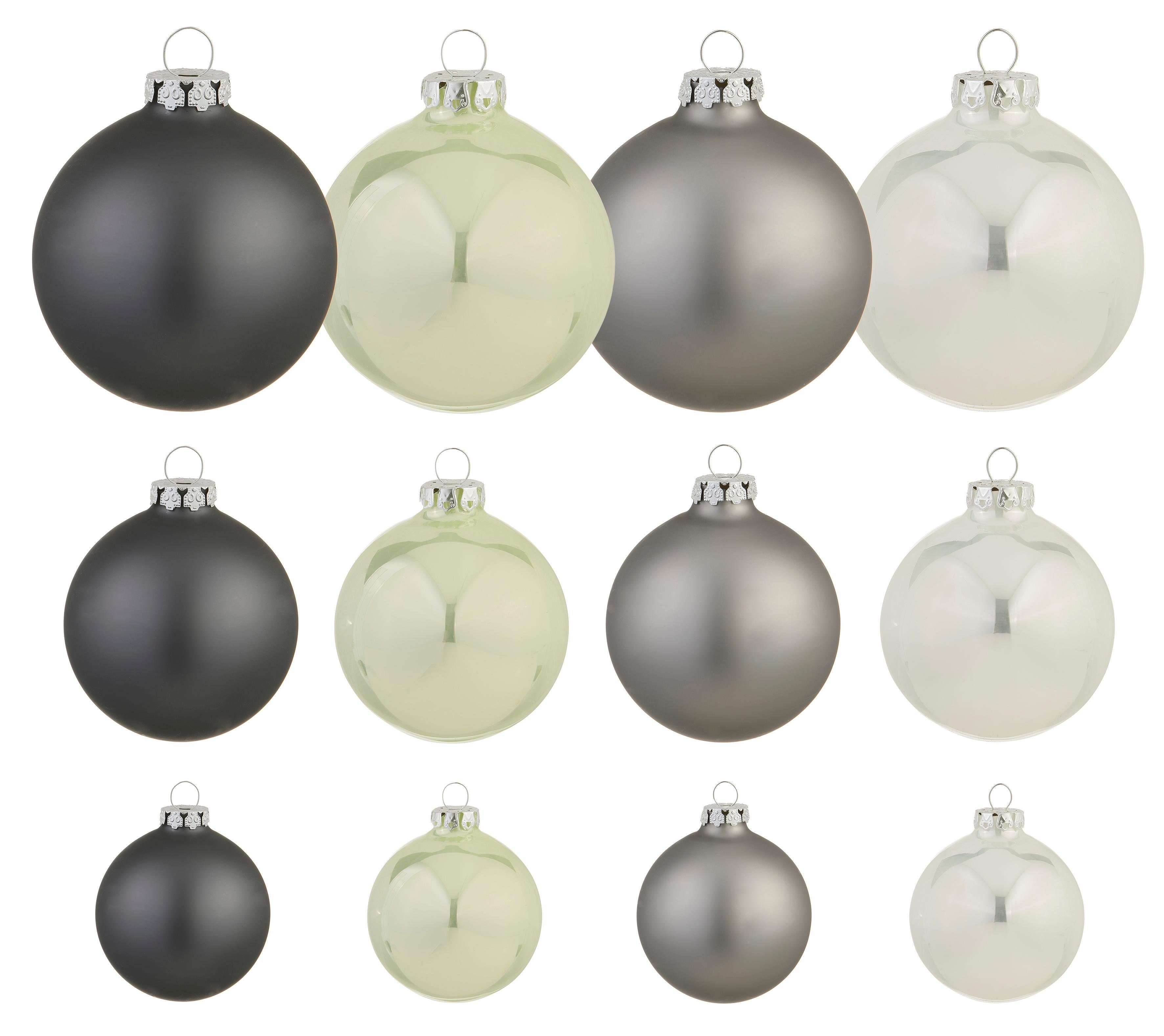 Thüringer Glasdesign TGS-Weihnachtskugeln, (40-teilig.), »Frozen Christmas«