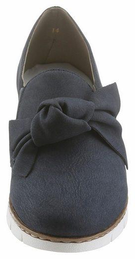 Rieker Slipper, mit angesagter Zierschleife