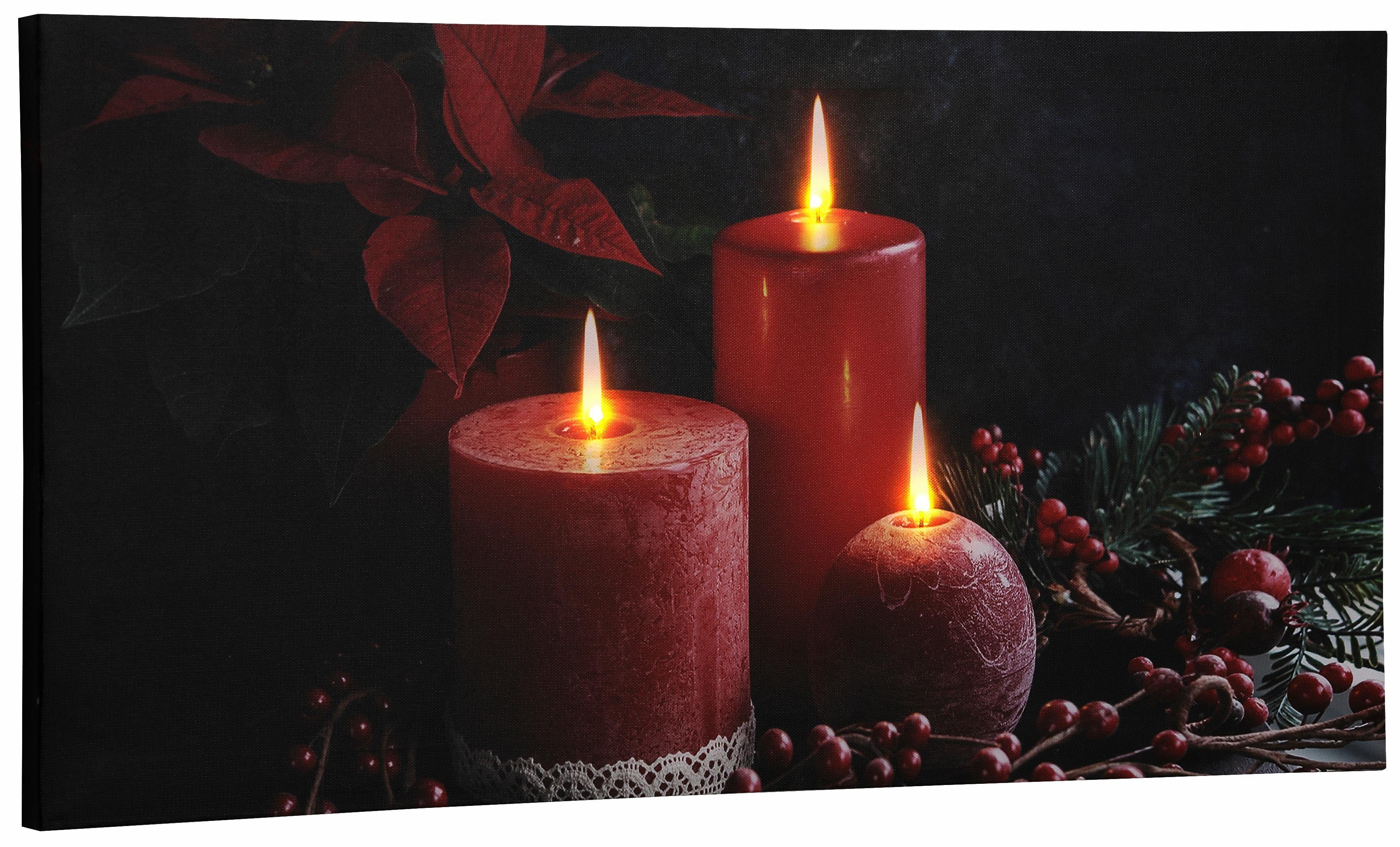 Dreams LED-Bild, 30x60 cm, »Kerzen«