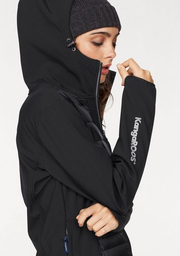 Kangaroos Softshell Jacket, With A Fashionable Quilted Operational Front