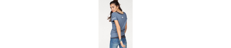 KangaROOS Oversize-Shirt (Packung, 2 tlg., mit Top), mit farblich abgesetztem Top im Doppelpack