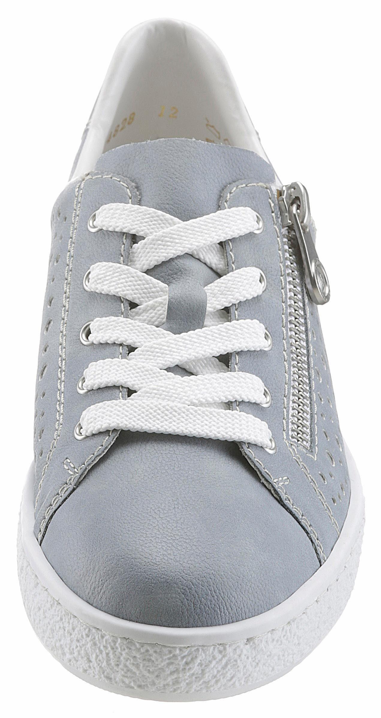 Rieker Sneaker, mit Zierreißverschluss kaufen  graublau-silberfarben