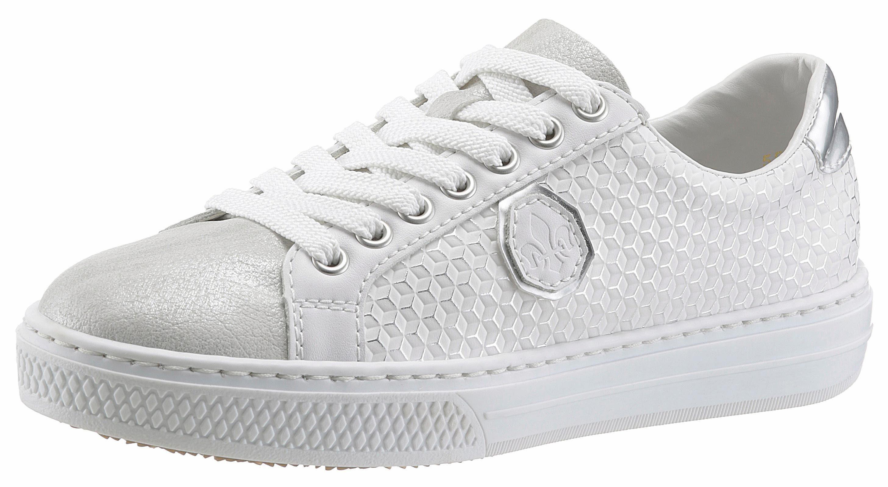 Rieker Sneaker mit auffälliger Schnürung, Obermaterial aus Lederimitat online kaufen | OTTO