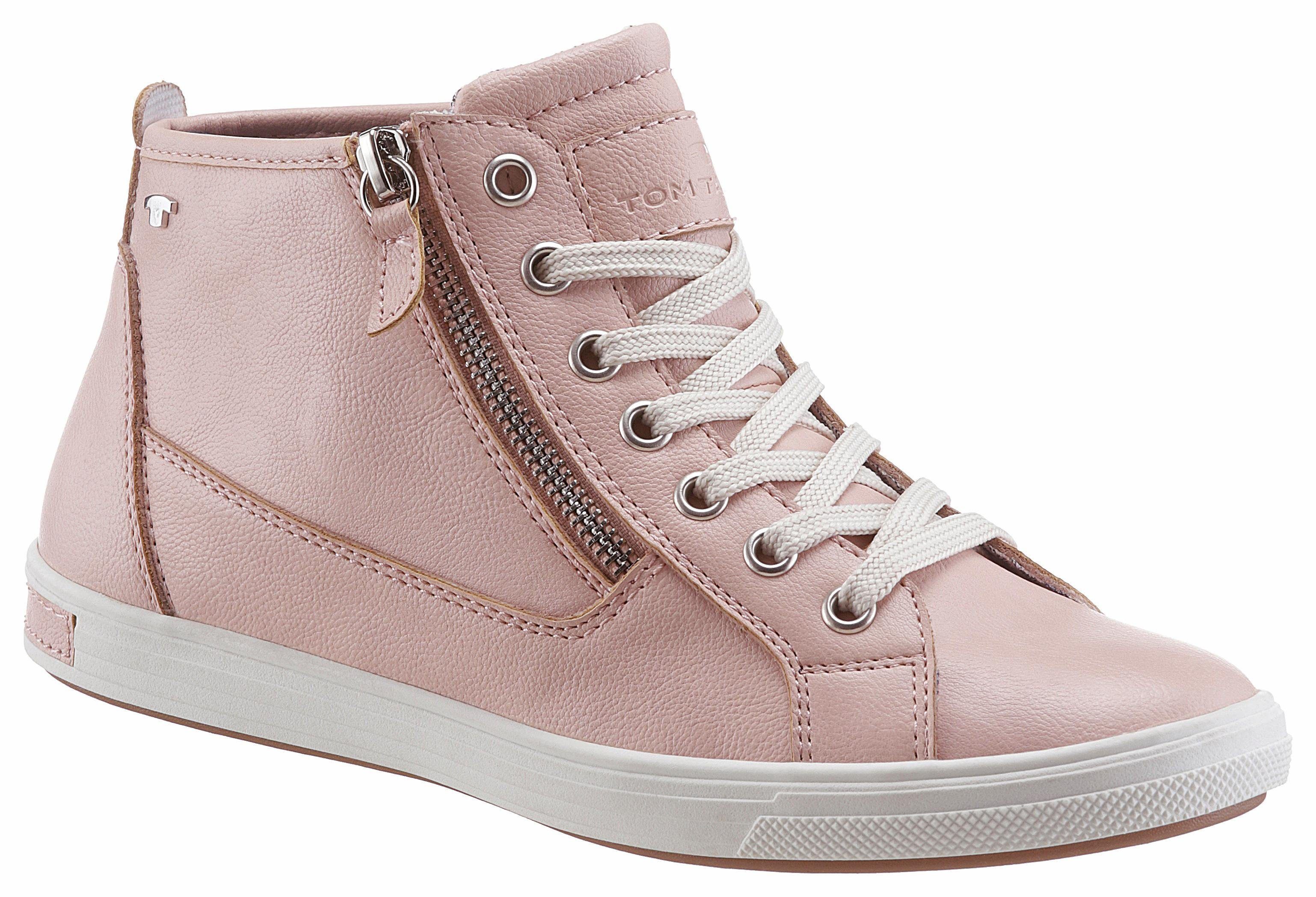 Marco Tozzi Sneaker, mit Metallic Effekt, rosa, EURO-Größen, rosé