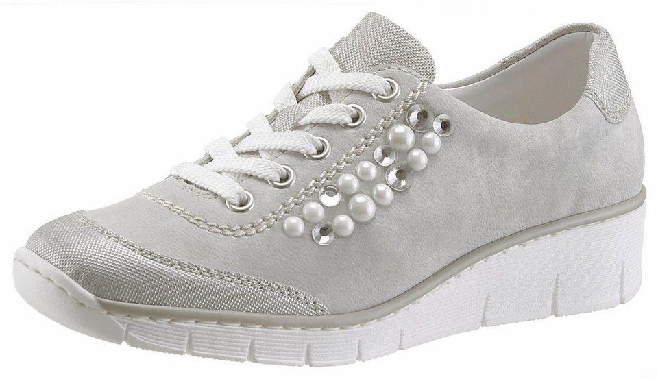 2a443ba7f5ba8e Rieker Sneaker mit angesagten Perlen und Schmucksteinen besetzt ...