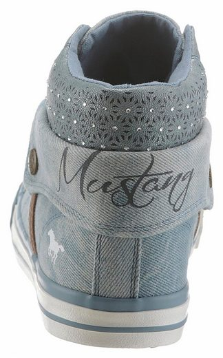 Mustang Shoes Sneaker, mit Strass-Steinchen