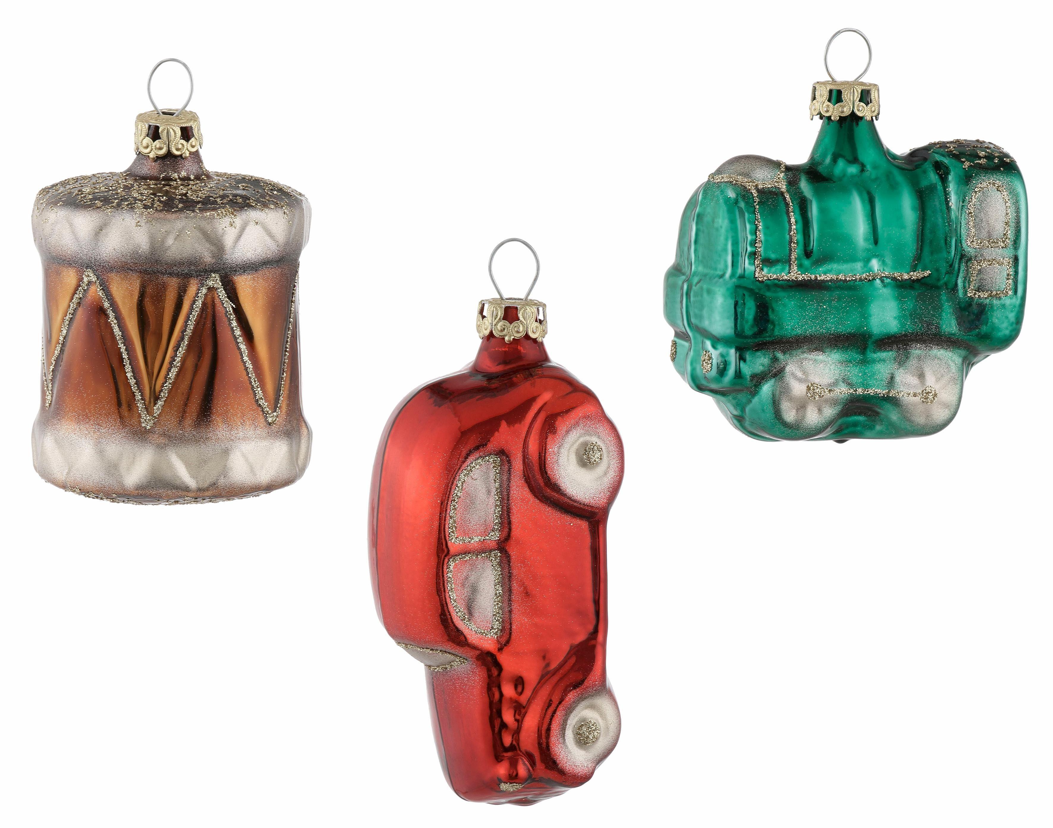 Thüringer Glasdesign TGS-Christbaumschmuck Spielzeug-Sortiment, (3tlg), »Lieblingsstücke«
