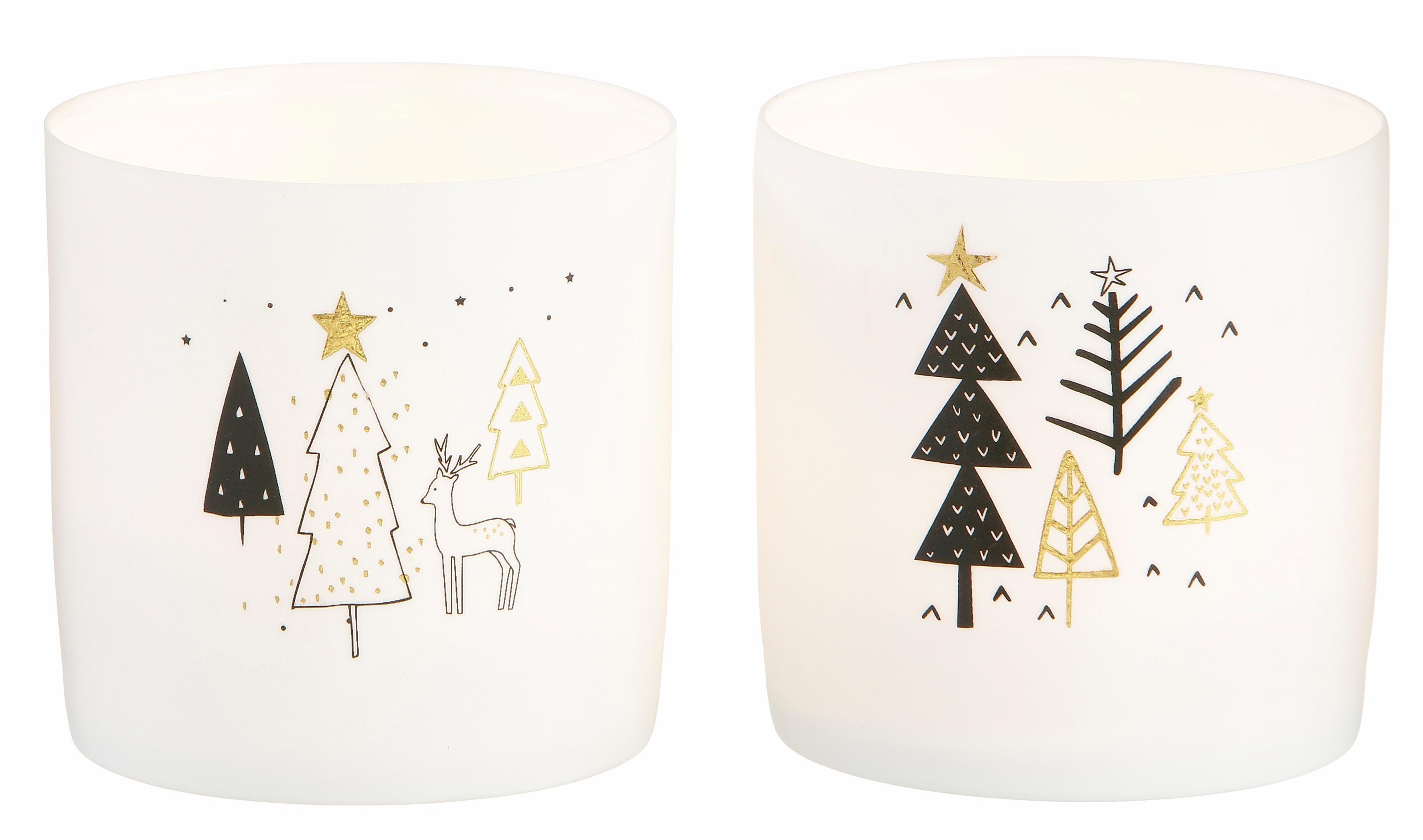 Teelichthalter, 2er Set, aus Keramik