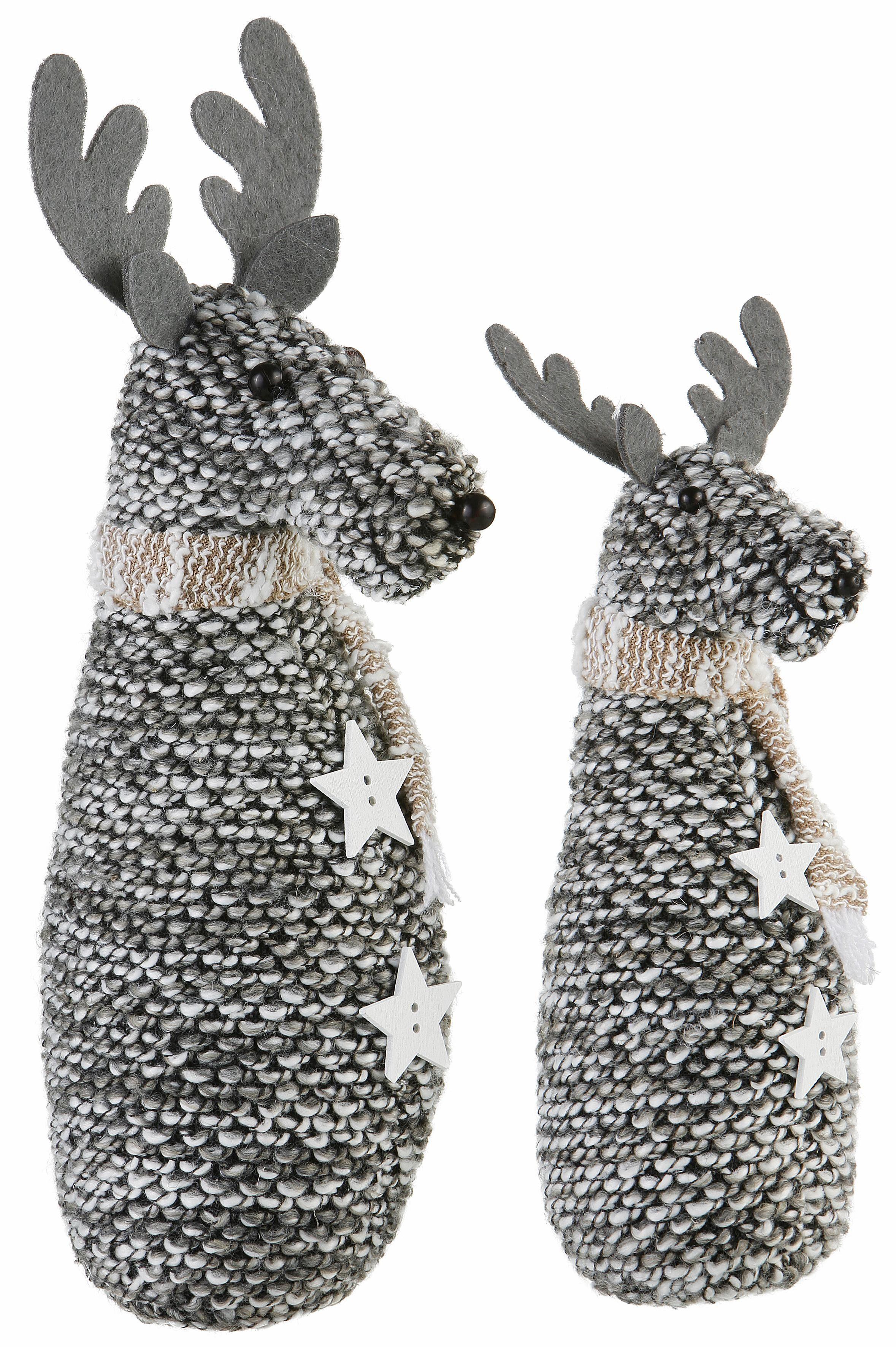 Deko-Figuren, 2-teilig, » Hirsch«