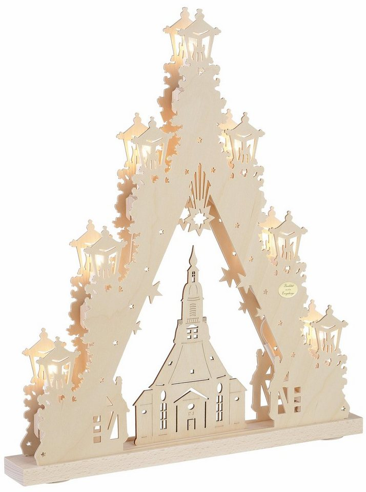 Weihnachtsdeko Seiffen.Saico Original Lichterbogen Seiffener Kirche In 3d Optik Online Kaufen Otto