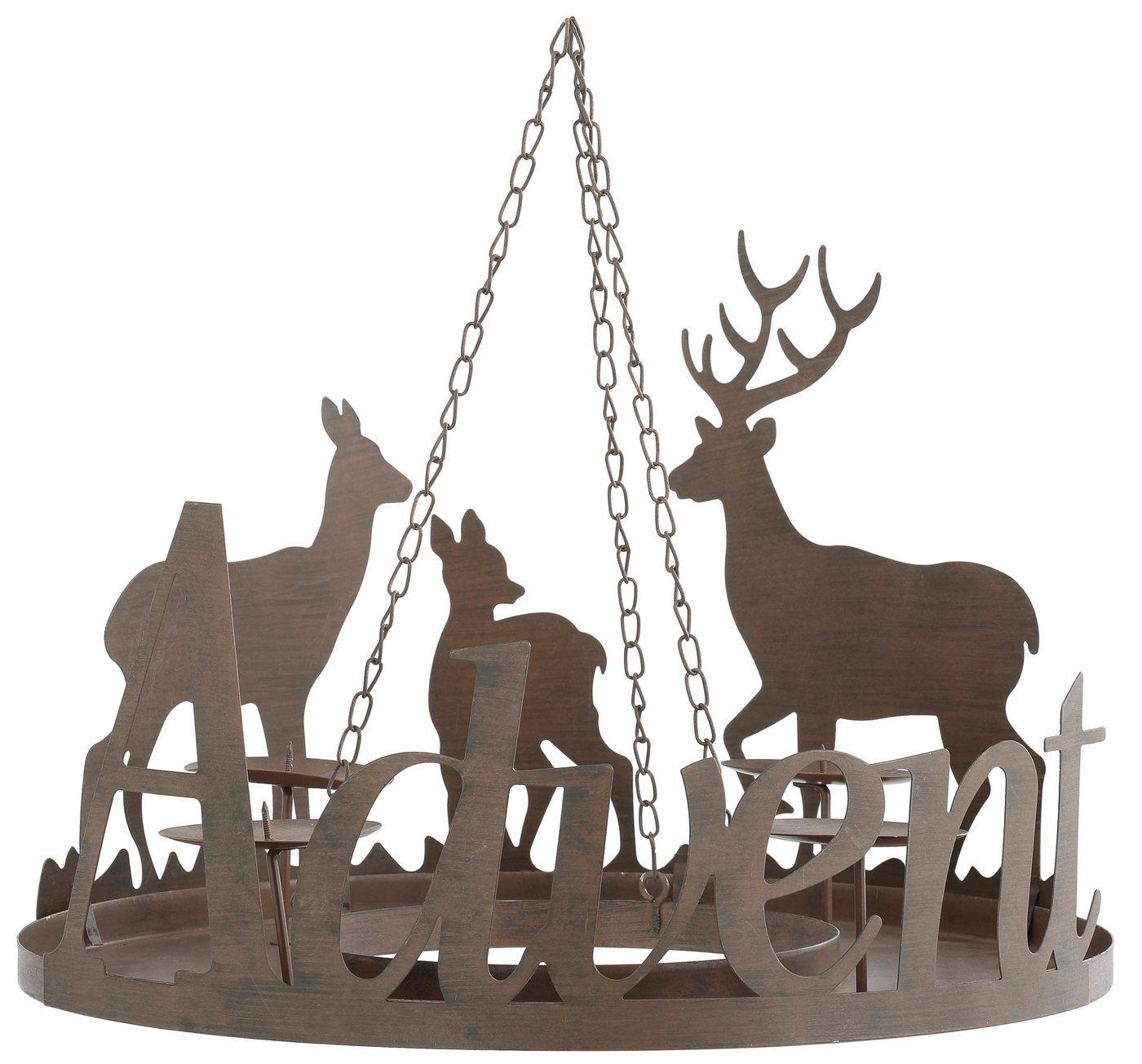 Adventskranzständer aus Metall, Ø 40,5 cm, »Advent«   Weihnachten > Adventskranz und Weinachtsleuchter   Braun   OTTO