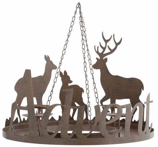 Home affaire Adventsleuchter »Advent«, aus Metall, Ø 40,5 cm