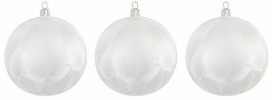 Thüringer Glasdesign Weihnachtsbaumkugel »Eisprinzessin« (3 Stück), mundgeblasen, Ø 12 cm