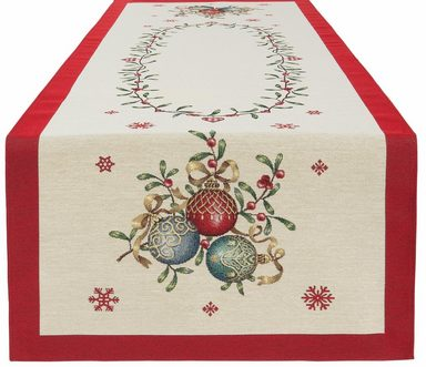 HOSSNER - HOMECOLLECTION Tischläufer »Weihnachtskugel« (1-tlg)