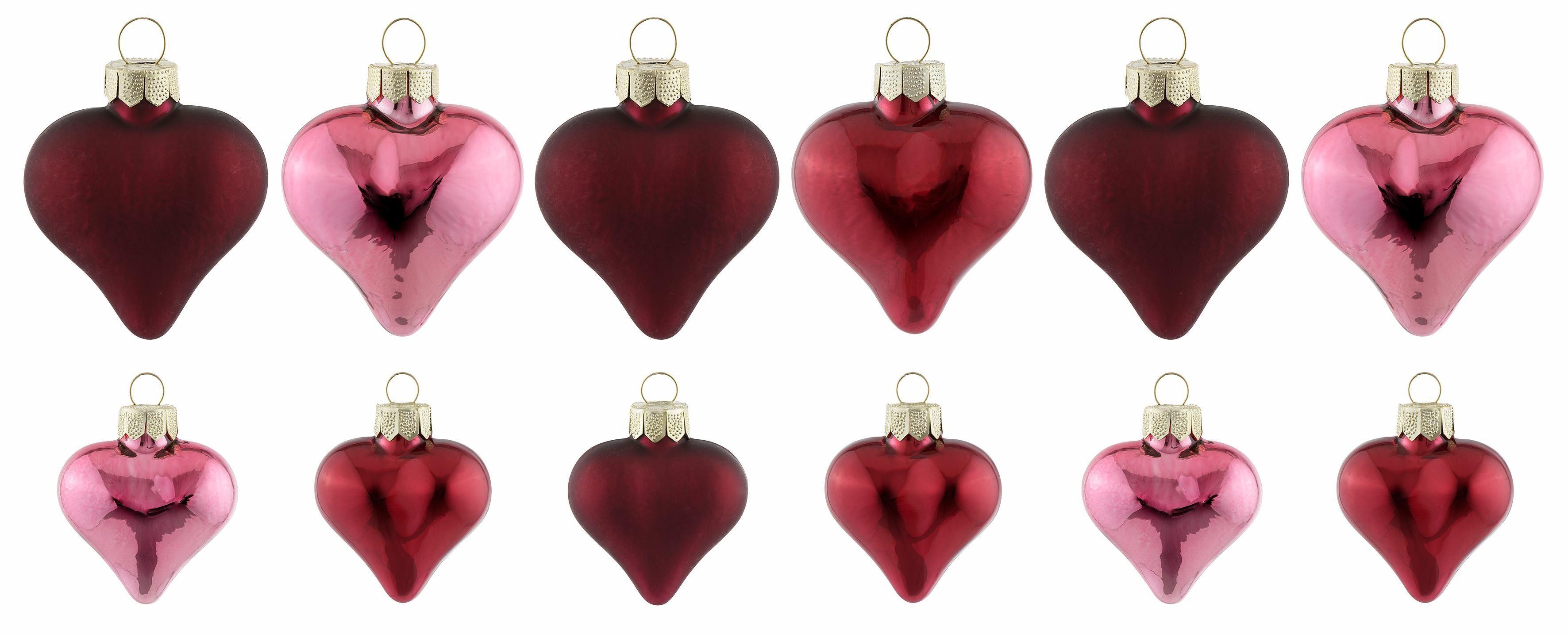INGE-GLAS® Christbaumschmuck »Magic - true love« (12-tlg)