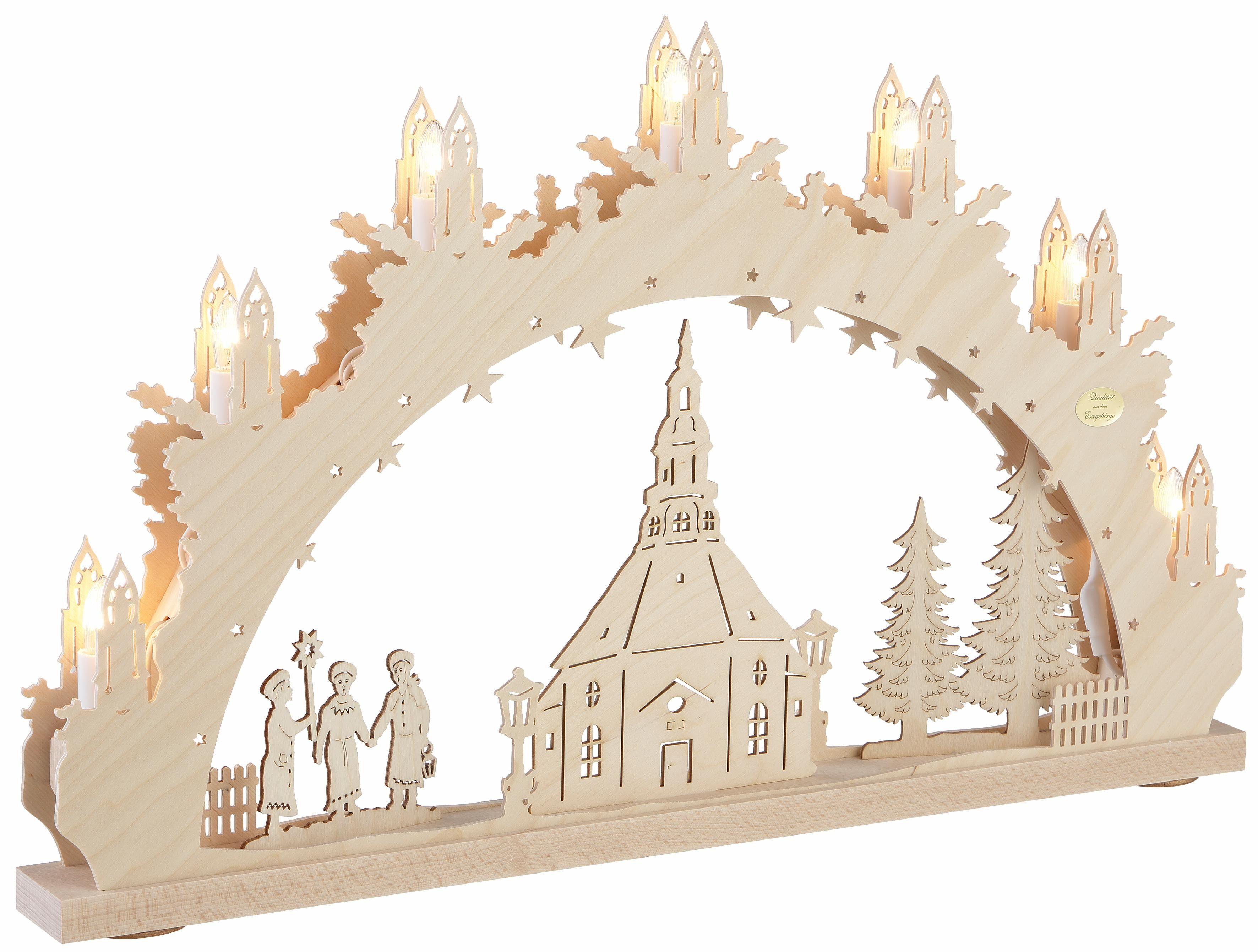 SAICO Original Lichterbogen, in 3D-Optik, »Seiffener Kirche«