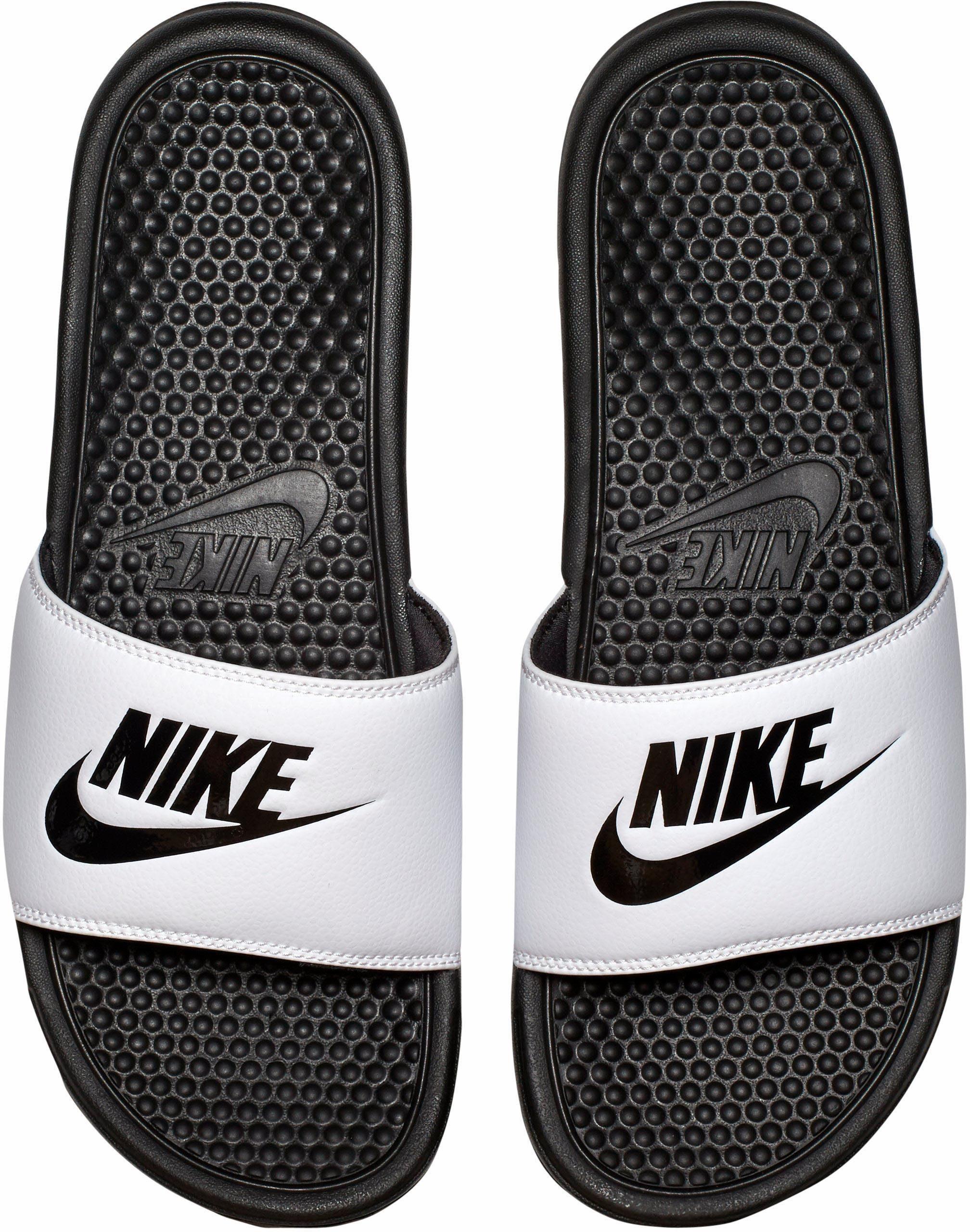 Nike Sportswear Benassi Just do it Badesandale  weiß-schwarz