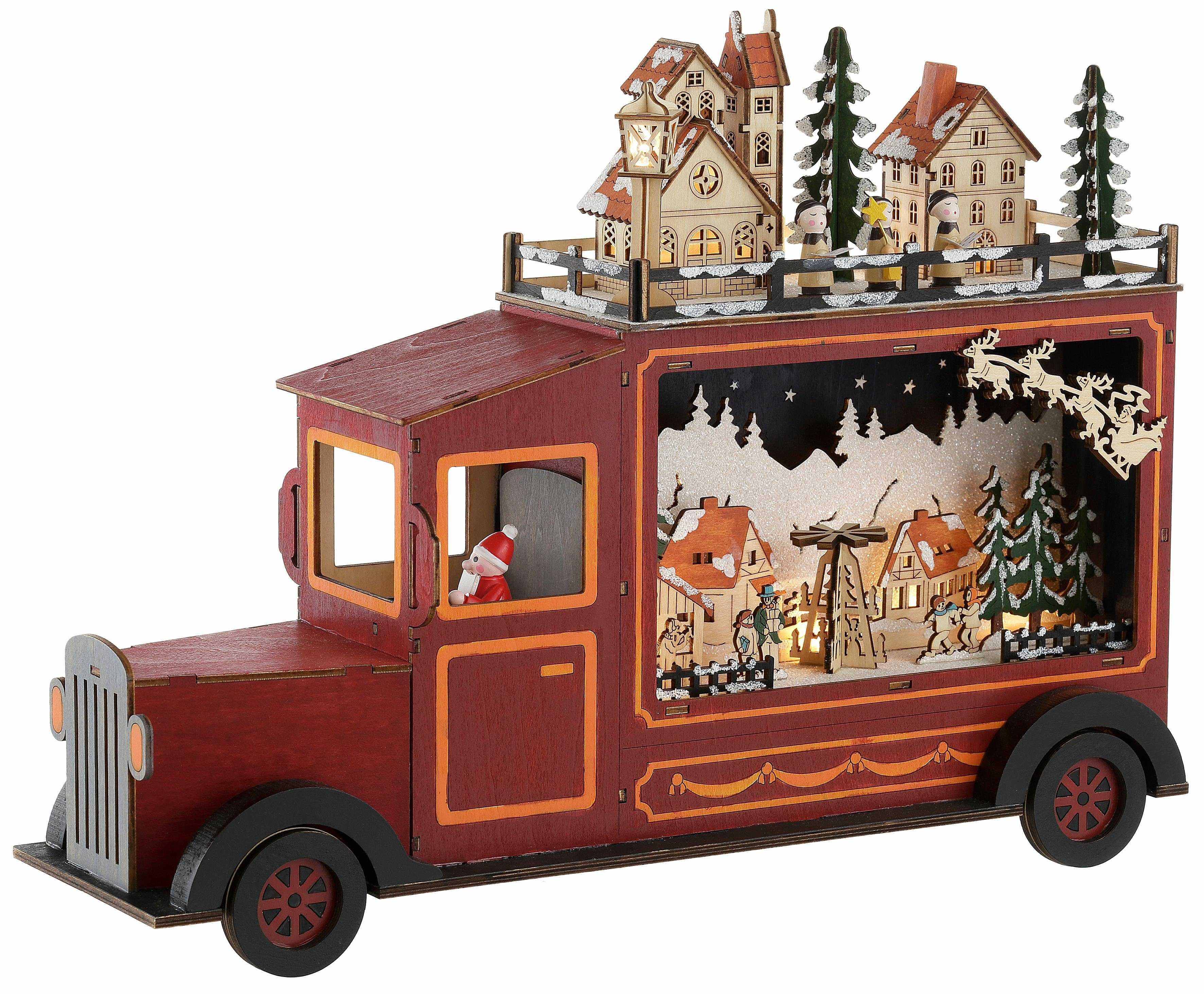 Santa-Truck mit LED-Beleuchtung