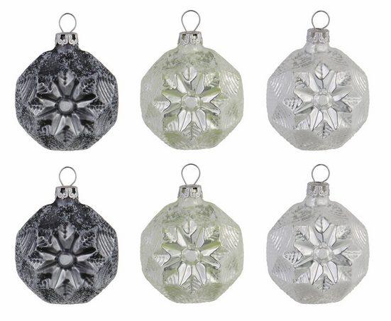 Thüringer Glasdesign Christbaumschmuck »Frozen Christmas« (6-tlg)